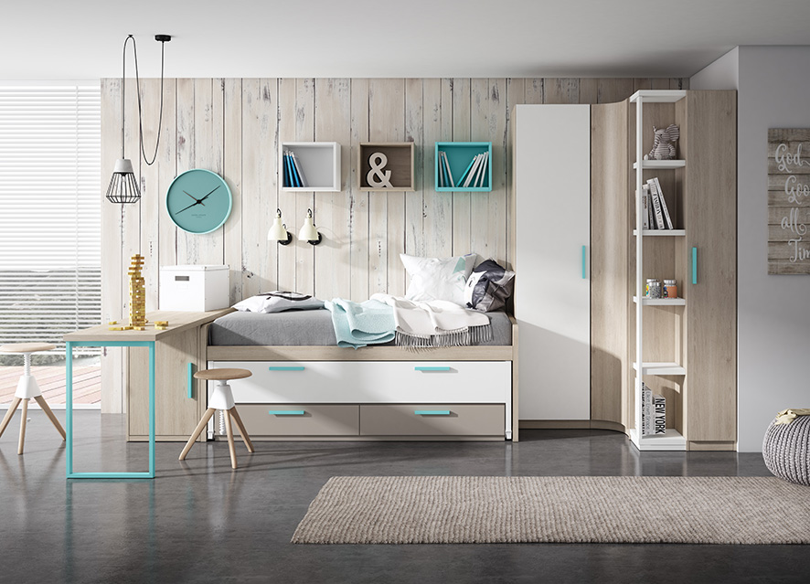 Dormitorios Juveniles en Zaragoza   Muebles Nebra VIVAREA